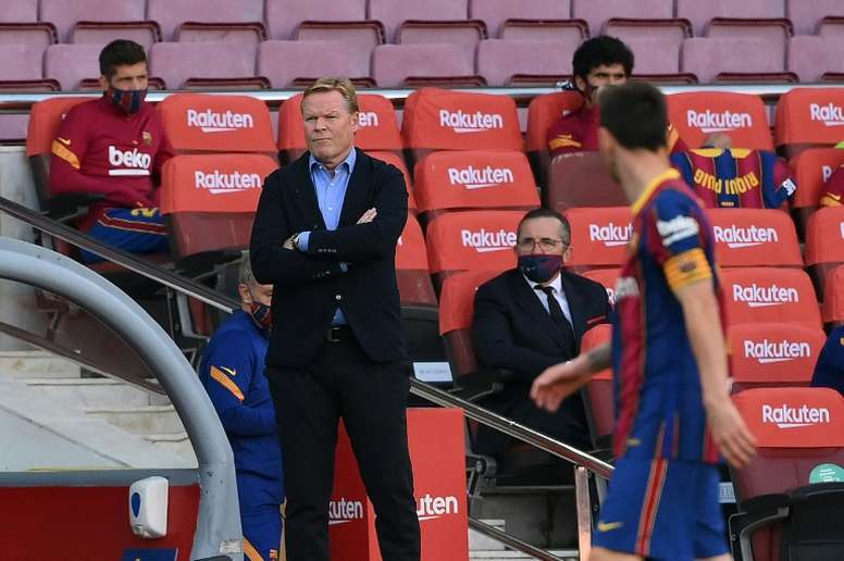 Blame game: Koeman and Barca's sense of injustice clouds Juve test. AFP