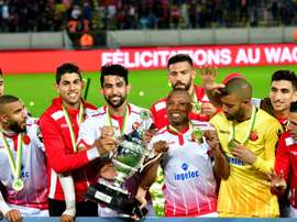 Tighazoui scored the winning goal for Wydad in the CAF Super Cup. AFP