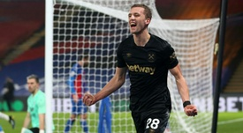Czech mate: Tomas Soucek struck twice to send West Ham into the Premier Leagues top four. AFP