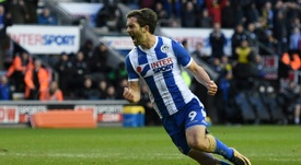 Will Grigg ya no está 'on fire'. AFP