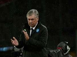 Carlo Ancelotti Napoli. AFP