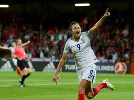 Jodye Taylor anotó el único gol del partido. AFP