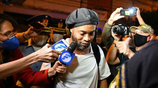 Ronaldinho is set to be released from jail on 24th August. AFP