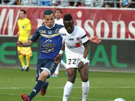Guinea-Bissau captain and defender midfielder Bocundji Ca (R) has played for several French clubs, including Châteauroux