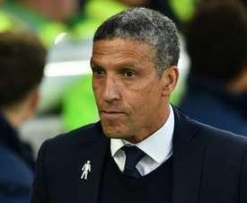 Brighton manager Chris Hughton. AFP