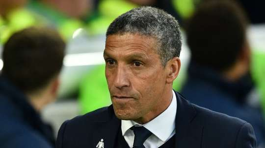 Chris Hughton's Brighton drew 2-2 with Fulham on Saturday. AFP