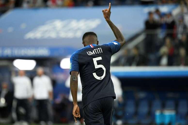 Umtiti, l'un des poids lourds du Barça au Mondial. AFP