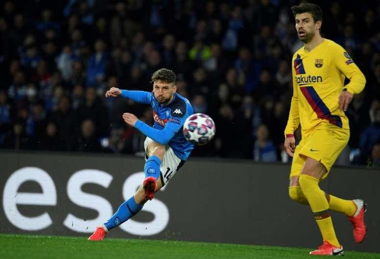 Dries Mertens era alvo da Inter, mas deve permanecer. AFP