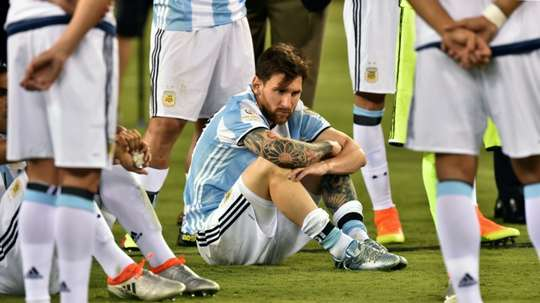 The defeat to Chile was one of the hardest moments in Messi's career. AFP