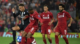Neymar struggled as PSG were defeated by Liverpool. AFP
