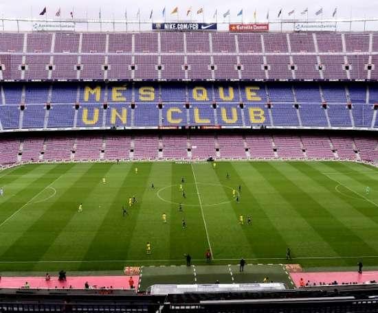 Le Barça a joué à huis clos le jour du référendum. AFP