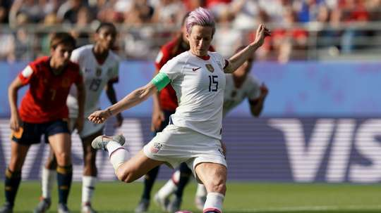 Rapinoe scored twice from the spot for USA women. AFP