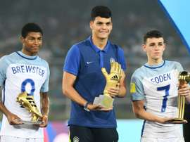 Foden won the U-17 World Cup Man of the Tournament award. AFP