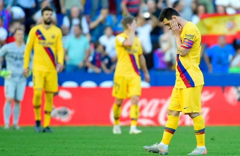 O departamento médico do Barça não tem folga. AFP