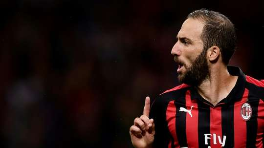 Higuain scored his first of the season. AFP