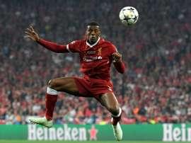 Wijnaldum et Liverpool font un début de saison parfait. AFP