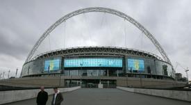Wembley se postula como candidato a hacerse con la final de la Champions en 2023. AFP