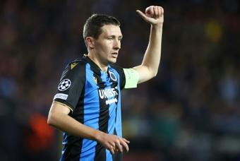 Vanaken dá empate ao Brugge.AFP