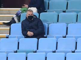Villa manager Dean Smith saw his team defeat Newcastle 2-0 in the Premier League. AFP