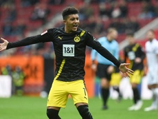 Dortmund have blamed a possible Man Utd on Jadon Sancho's poor performances. AFP