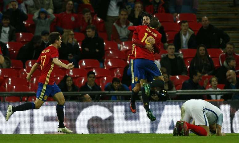 A picture of a Spain match. AFP