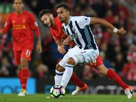 Chadli has fallen out of favour at Tony Pulis' West Brom. AFP