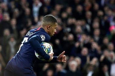 Mbappe is not happy with his coach. AFP