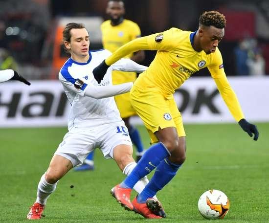 Frank Lampard pourrait permettre la continuité d'Hudson-Odoi. AFP