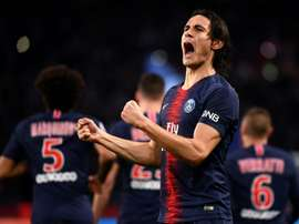 Cavani scored the crucial goal. AFP