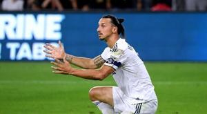 Ibrahimovic deixa a MLS sem ganhar nada. AFP