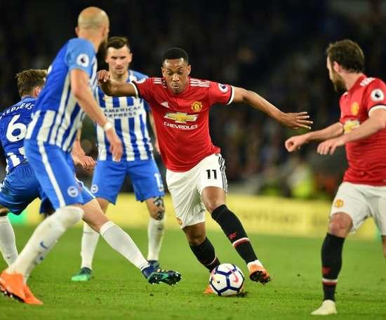 El Brighton pasó por encima del United de Mourinho. AFP