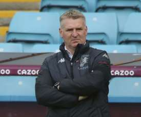 Aston Villa manager Dean Smith says only having three subs is not affecting his players. AFP