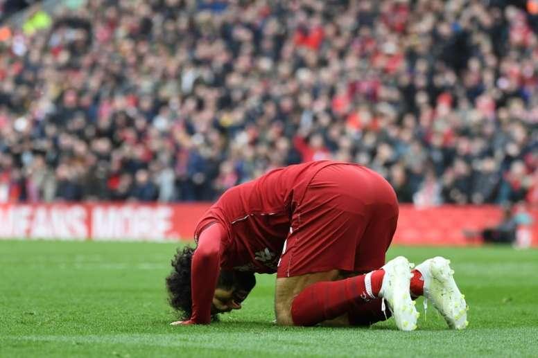 Mo Salah scored a sensational goal for Liverpool. AFP