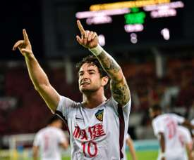 Alexandre Pato was emotional to be leaving Tianjin Tianhai. AFP