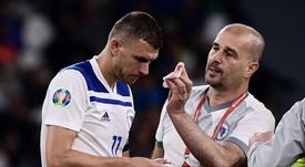 Pjanic y Dzeko también se quedaron sin Eurocopa. AFP