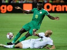 Senegal star Sadio Mane (L) scored the winner against Guinea-Bissau. AFP