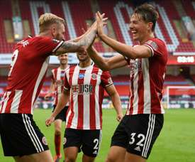 Sheffield United beat Tottenham 3-1 at Bramall Lane. AFP