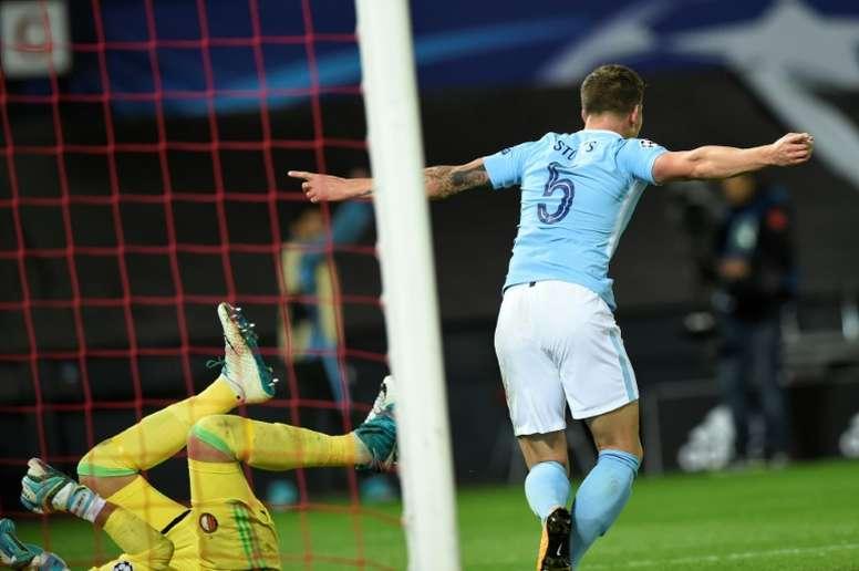 Manchester City ferme la porte à un départ de Stones. AFP