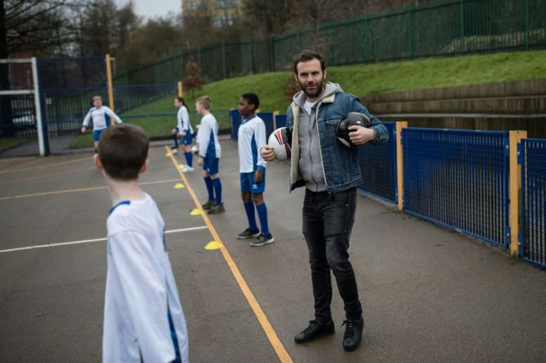 Mata's charity has been supported by the Danish Superleague side. AFP