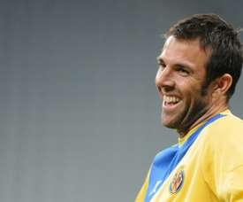 Carlos Marchena sólo tuvo palabras de agradecimiento hacia Luis Aragonés. AFP