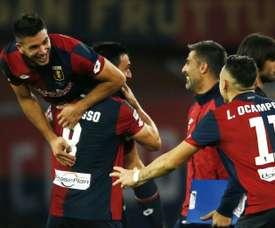 El Genoa ha remontado al Cesena y sigue vivo en la Coppa. AFP/Archivo
