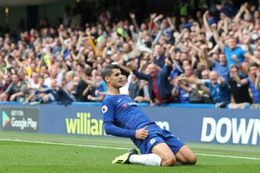 Morata scored his first goal of the season for Chelsea. AFP