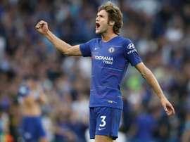 Chelsea  y Arsenal se vieron las caras en Stamford Bridge. AFP