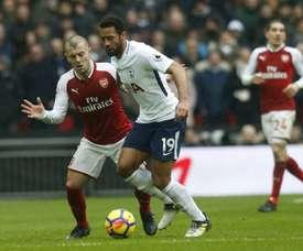 Moussa Dembélé, meia belga de 29 anos do Tottenham. AFP
