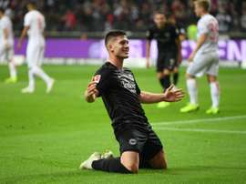 Jovic has been hailed as a 'potential world-class striker'. AFP