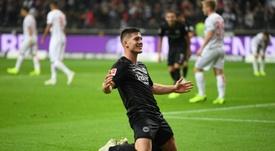 Luka Jovic in action for Frankfurt. AFP