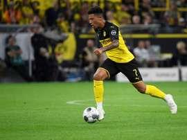 Jadon Sancho got a goal and an assist in Dortmund 2-0 win v Bayern. AFP