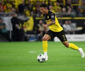 Jadon Sancho got a goal and an assist in Dortmund 2-0 win v Bayern. AFP