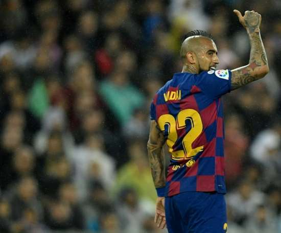 Vidal said Barcelona are the best team in the world. AFP