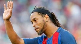 Torcida do Inter voltou a provocar Ronaldinho após reprise do Mundial. AFP